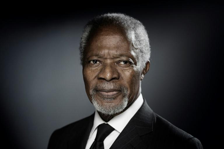 L'ancien secrétaire général de l'ONU Kofi Annan à Paris le 11 décembre 2017 / © AFP/Archives / JOEL SAGET