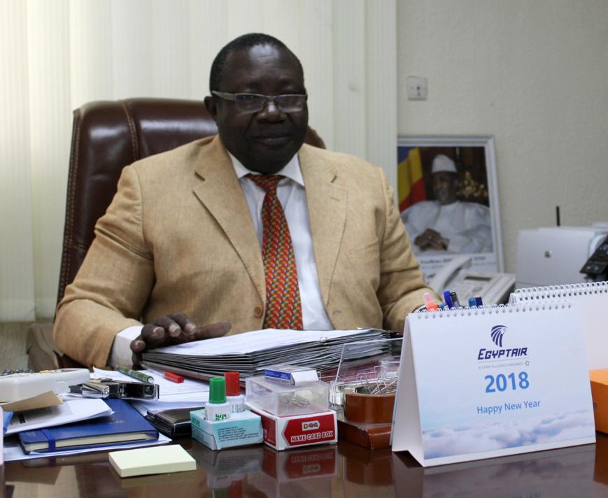 Le Colonel Mahamat Adjam, Directeur général de l'Autorité d'Aviation Civile du Tchad.