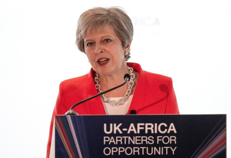 La Première ministre britannique Theresa May au Cap le 28 août 2018 / © POOL/AFP / NIC BOTHMA