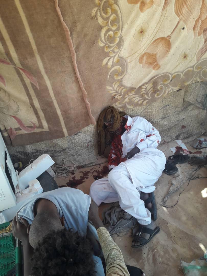 Des orpailleurs blessés au cours d'un bombardement le jeudi 13 septembre à Kouri Bougoudi (Tchad). AlWihda Info