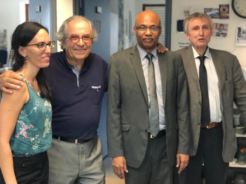 Le jury de soutenance avec Ahmat Yacoub Dabio, ce vendredi 21 septembre 2018.