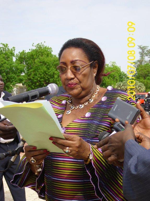 Mme Mbaïlemdana Fatimé Marie-Thérèse, maire de la Ville de N'Djamena.
