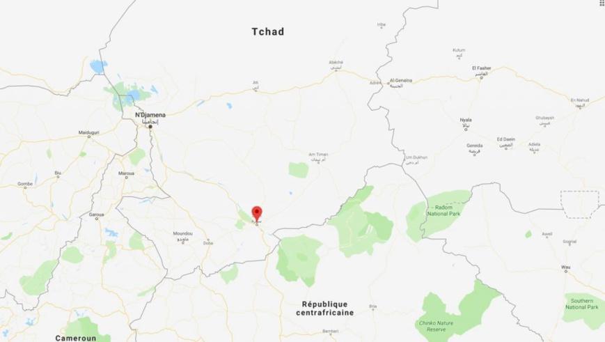 Sarh, ville située au sud du Tchad. © Google Maps