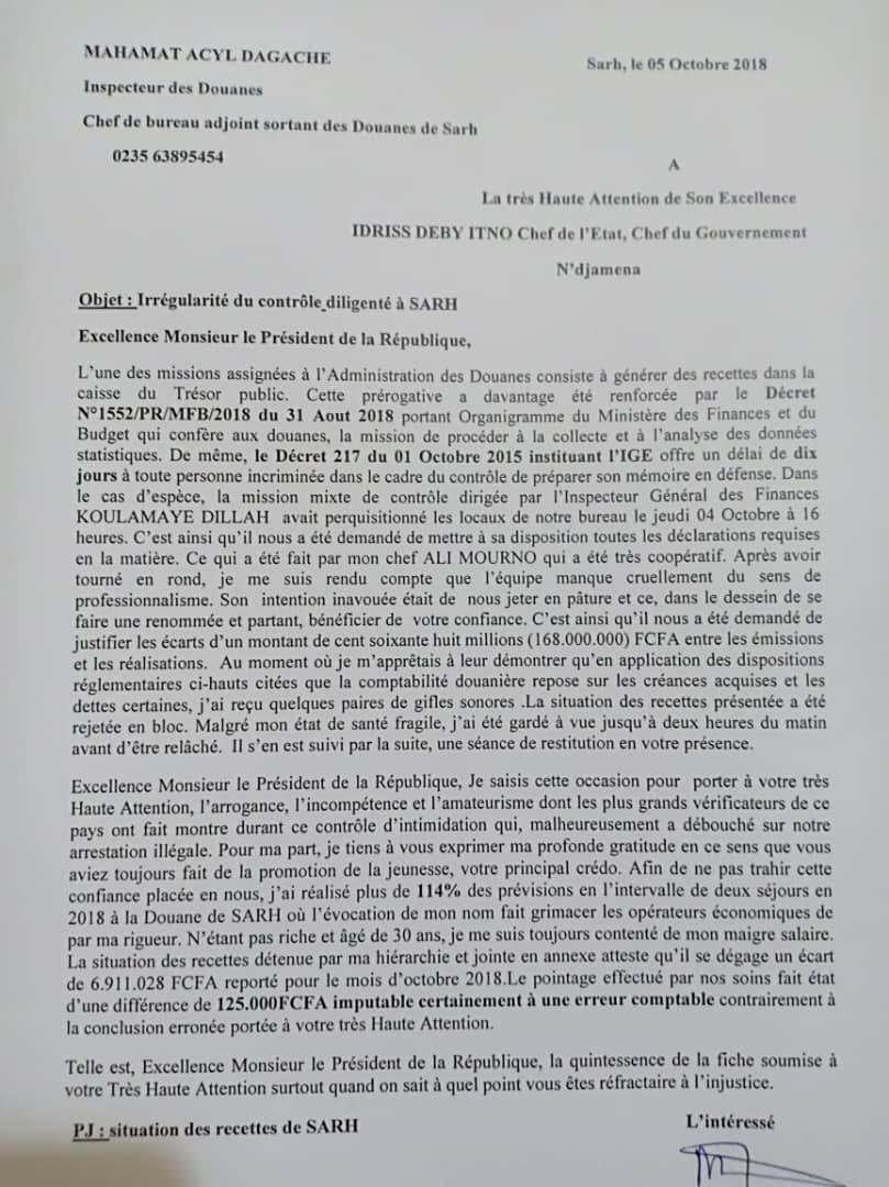 Révocation et arrestation des responsables des douanes de Sarh : Ce que le président ne devrait pas faire