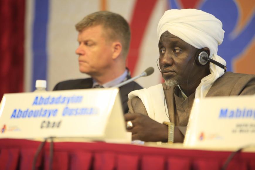 Cheik Abdoudahim Abdallah Ousman, 1er vice-président du CSAI. Crédits : Unicef