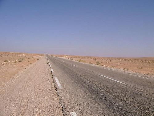 L'axe Niger-Alger de la route transsaharienne. Crédits : DR