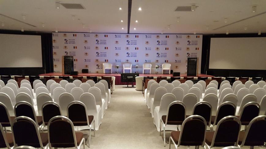 La salle de l'hôtel Méridien étoile de Paris où s'est tenu la table ronde pour le financement du PND du Tchad en septembre 2017.