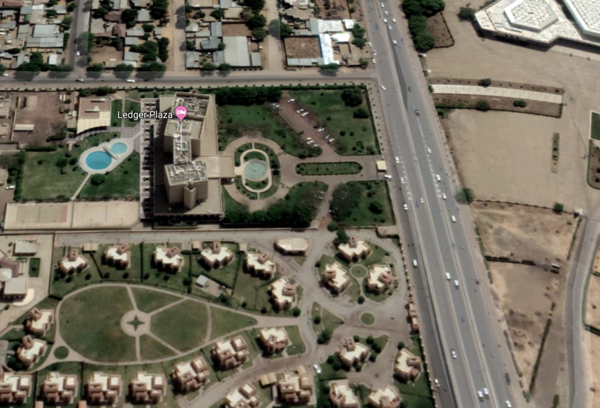 Vue satellite de N'Djamena, 8ème arrondissement. © Google Maps