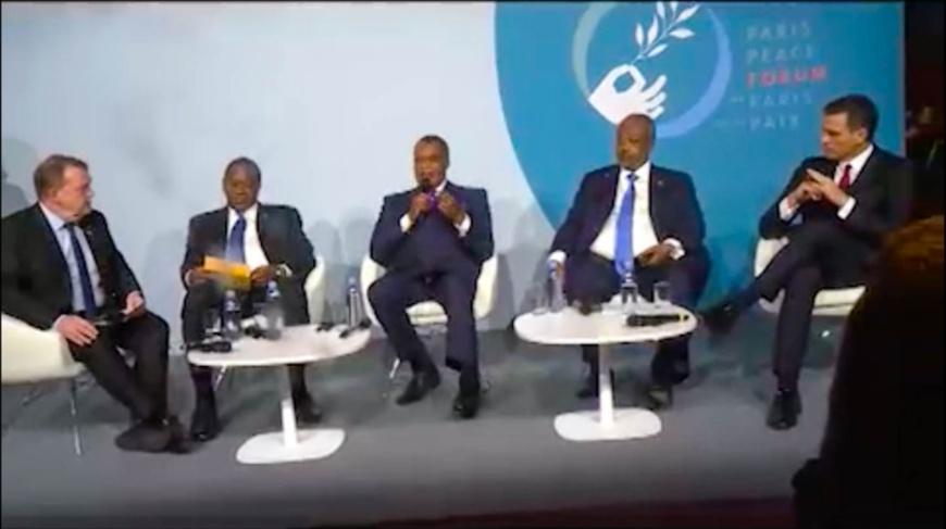 Denis Sassou N'Guesso, au cours de la table ronde