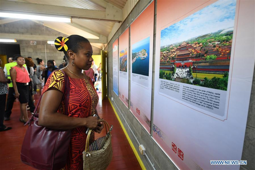 A photo exhibition features 100 pictures on China and Papua New Guinea's landscapes, cultures and society, in Port Moresby, Papua New Guinea, November 12, 2018.