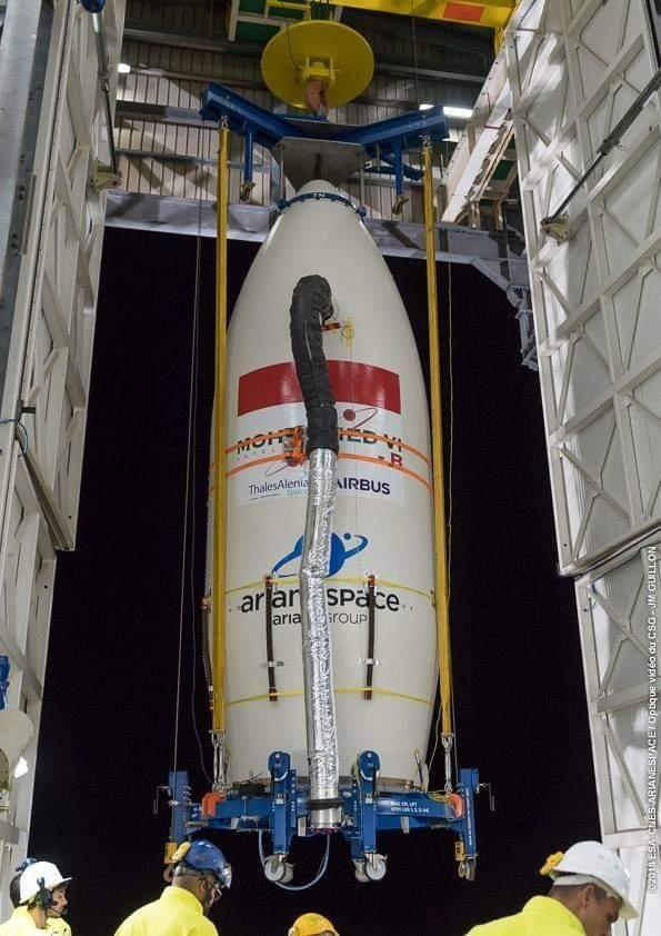 """Le satellite """"MOHAMMED VI-B"""" sera mis sur orbite, le 21 novembre 2018, depuis  le pas de tir de Kourou"""