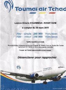 Air Toumai assure la liaison N'djamena - Khartoum