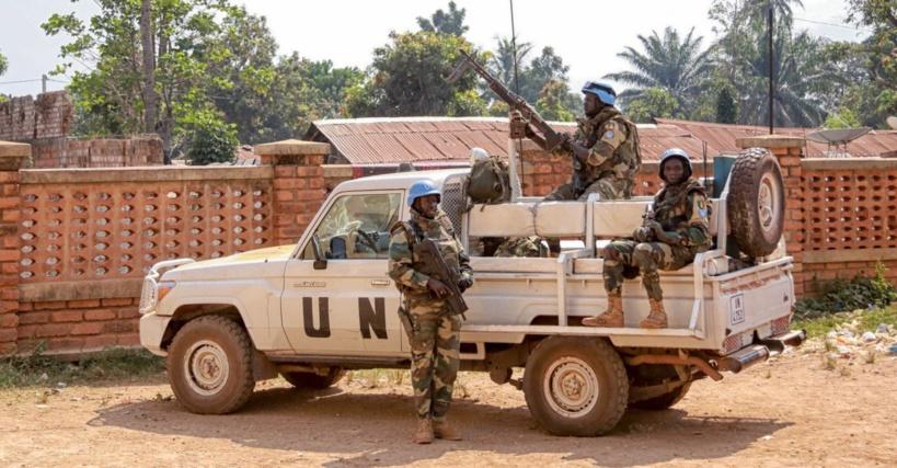 Un véhicule de la MINUSCA en Centrafrique. © DR