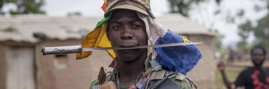 Un milicien anti-balaka en Centrafrique. © DR