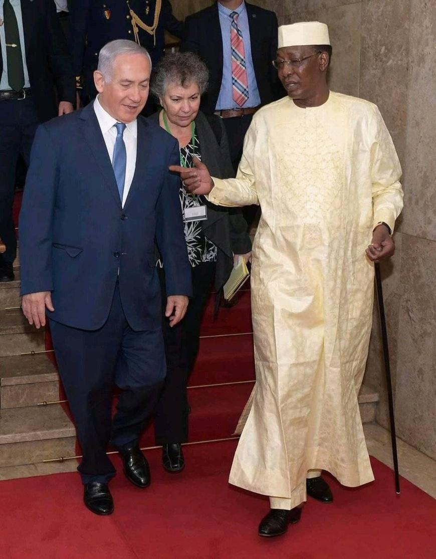 Le chef de l'Etat tchadien, Idriss Déby (d) et le premier ministre israélien Benjamin Netanyahou. © DR