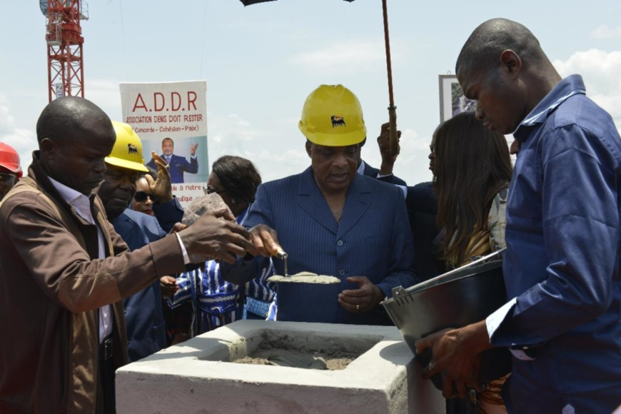Pose de la première pierre du Centre d'excellence d'Oyo en 2018 (Photo d'archives)