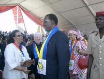 Le Président Idriss Déby lors des festivités du Cinquantenaire. Photo Alwihda.