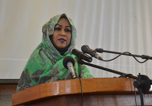 La Première dame Hinda déby le 8 décembre 2018.
