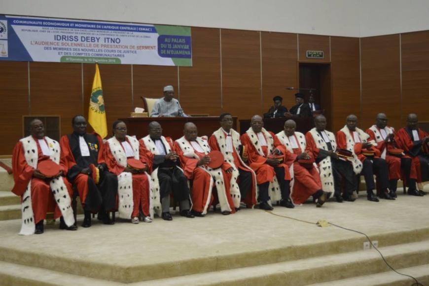 CEMAC : 18 nouveaux membres prêtent serment à N'Djamena. © PR