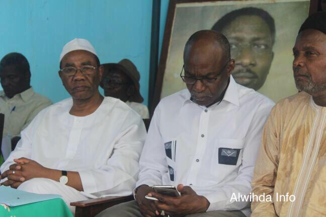 Des chefs de l'opposition lors d'un point de presse à N'Djamena. © Alwihda Info