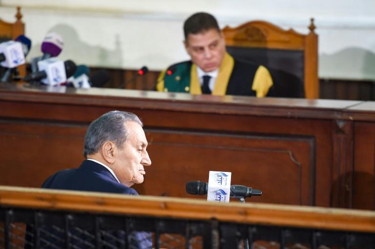 L'ancien président égyptien Hosni Moubarak, entendu comme témoin par un tribunal du Caire, le 26 décembre 2018 / © AFP/Archives / Mohamed el-Shahed