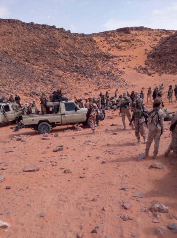 Des militaires tchadiens lors d'une opération au Tibesti. © Alwihda Info