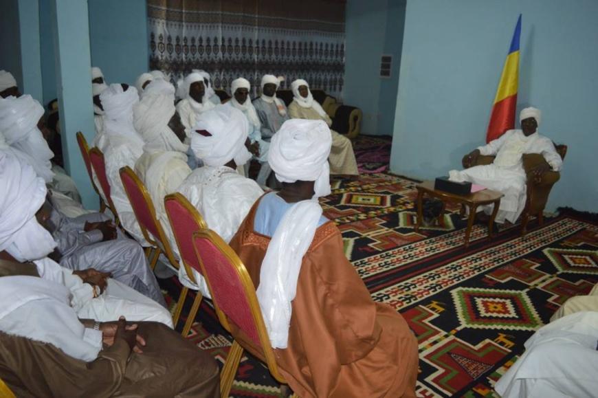 Le président de la République Idriss Déby a effectué un déplacement à kadjmar dans le Wadi Fira. © PR