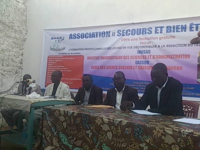 """Lancement d'une offre de formation professionnelle gratuite par l'association """"secours et bien être"""" (ASBE) au Tchad. © Alwihda Info"""