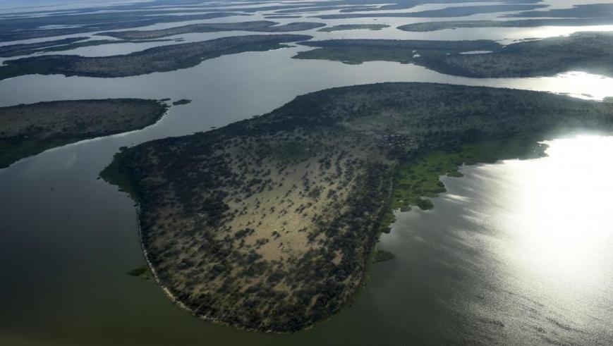 Vue du lac Tchad prise le 16 juillet 2016 dans la région de Bol, chef-lieu de la région du Lac. © SIA KAMBOU / AFP