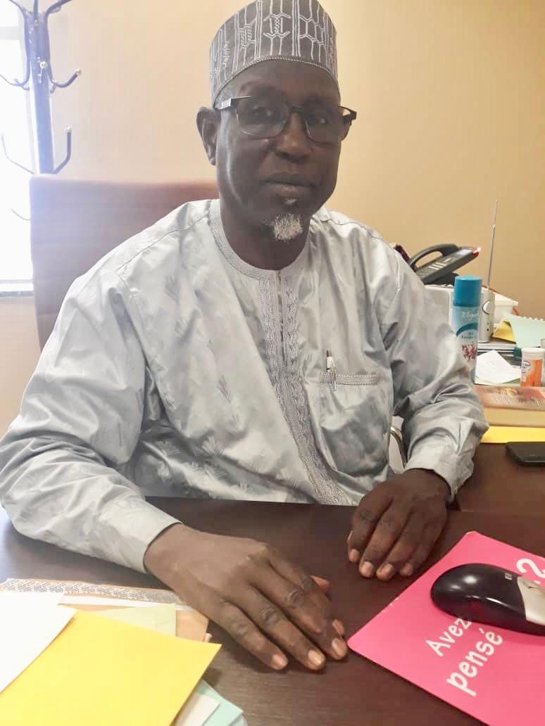 Le secrétaire général de la Confédération Libre des Travailleurs du Tchadiens (CLTT), Brahim Ben Said. © Alwihda Info