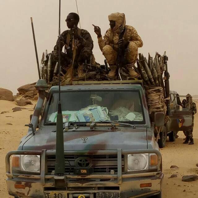 Des militaires tchadiens en opération au nord. © Alwihda Info