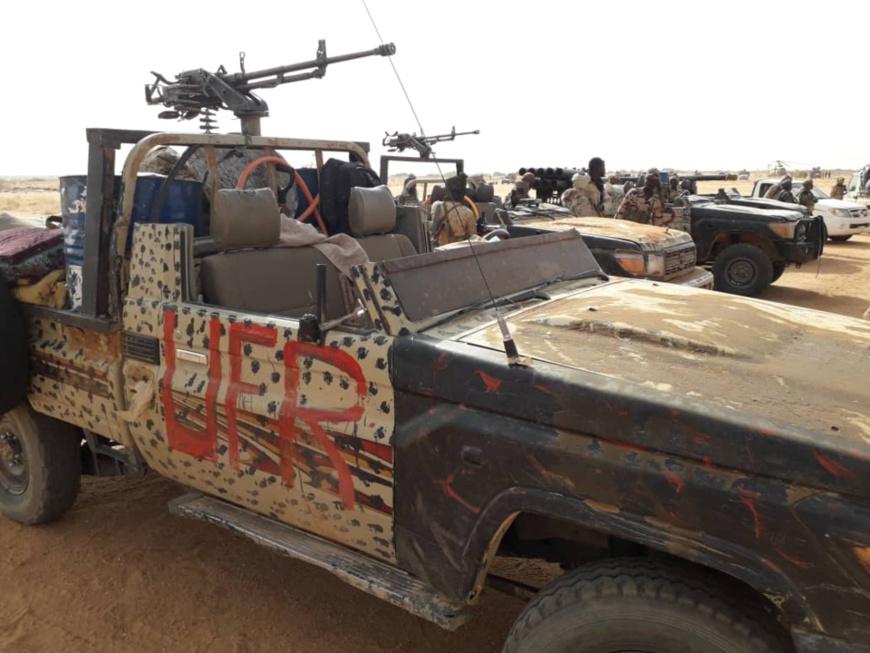 Un véhicule de l'UFR saisi par l'armée tchadienne. © Alwihda Info