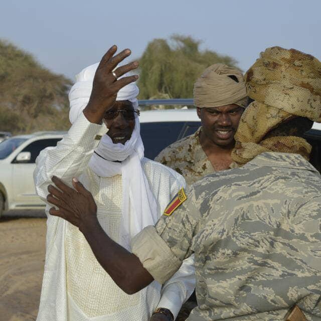 Le président Idriss Déby. © AI