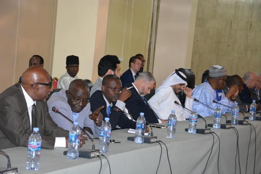 Le corps diplomatique écoutant la communication du chef de la diplomatie tchadienne, Cherif Mahamat Zene, ce jeudi 14 décembre 2019 à N'Djamena.