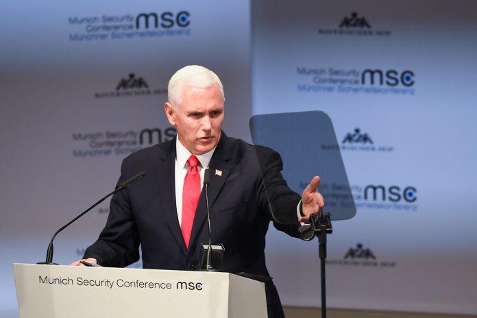 Le vice-président Mike Pence à la conférence de Munich sur la sécurité, le 16 février. (© Kerstin Joensson/AP Images)