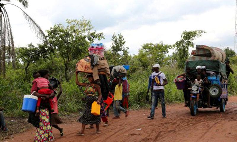 Les déplacés de Yumbi à Makotipoko.