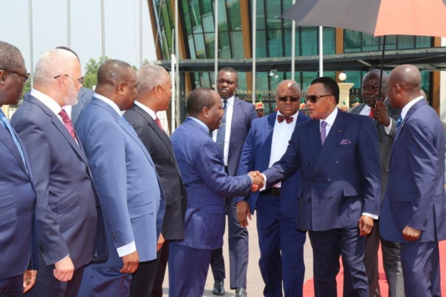 Denis Sassou N'Guesso avant son départ pour Niamey.