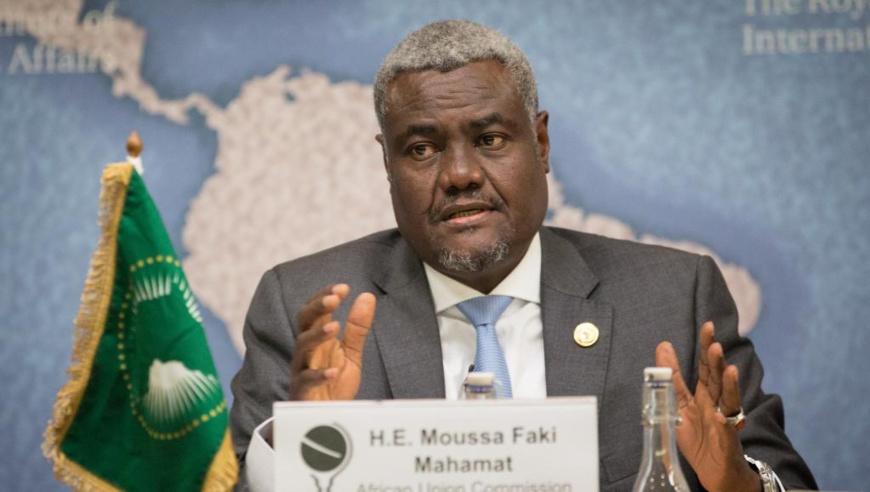 Moussa Faki Mahamat, président de la Commission de l'Union africaine. Flickr/CC/Chatham House/©Suzanne Plunkett 2017
