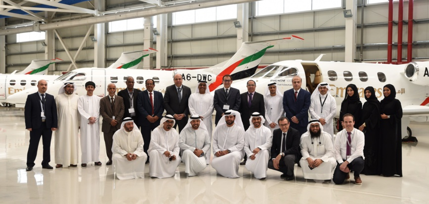 Group photo with 14 general managers and second-tier of civil aviation leaders in the Arab world (Photo: AETOSWire).