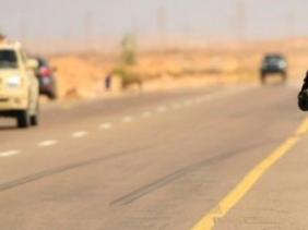 Une route au sud de la Libye. © DR