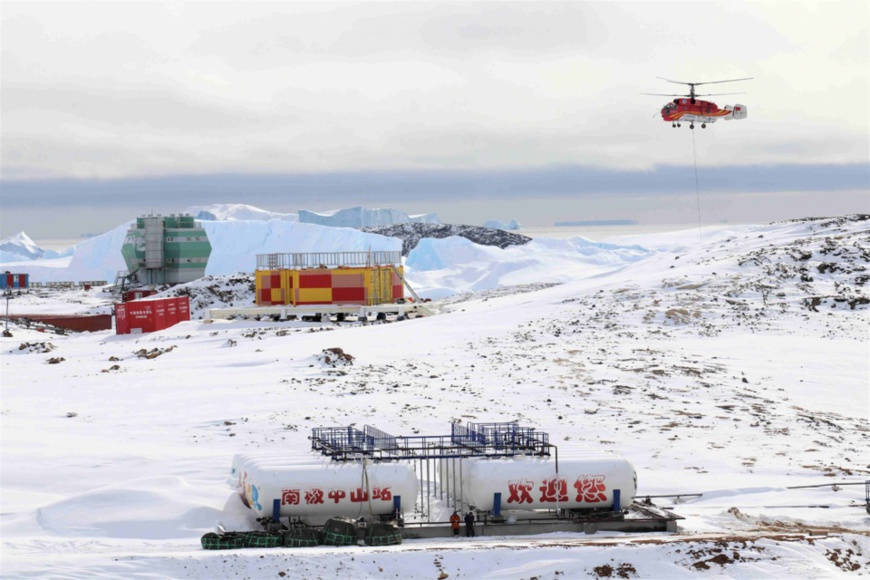 Photo taken on Feb. 9, 2019 shows a view of Zhongshan Station, a Chinese research base in Antarctica. (Photo: Xinhua)