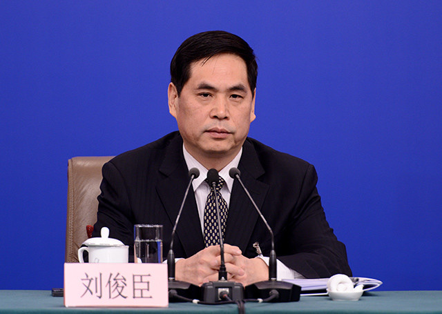 Liu Junchen, vice chairman of Legislative Affairs Commission of the National People's Congress (NPC) Standing Committee, attends a press conference on the legislative work of the NPC for the second session of the 13th NPC in Beijing, capital of China, March 9, 2019. (Photo: People's Daily Online)