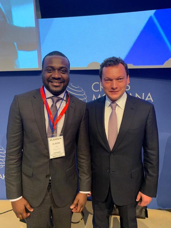 James Claude, GVG CEO et Pierre Emmanuel Quirin, CEO Crans Montana. © GVG