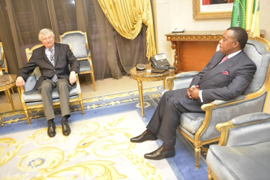 Denis Sassou N'Guesso et Guy Bultynck.