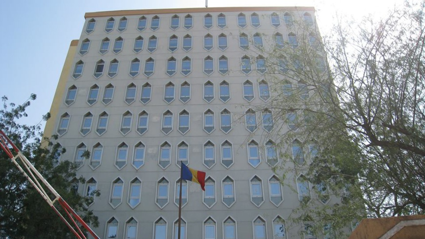 Le bâtiment du ministère de l'Education nationale à N'Djamena. © DR