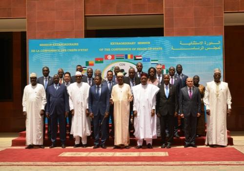 Session extraordinaire de la Conférence des Chefs d'Etat et de gouvernement de la CEN-SAD, ce samedi 13 avril 2019 à N'Djamena.