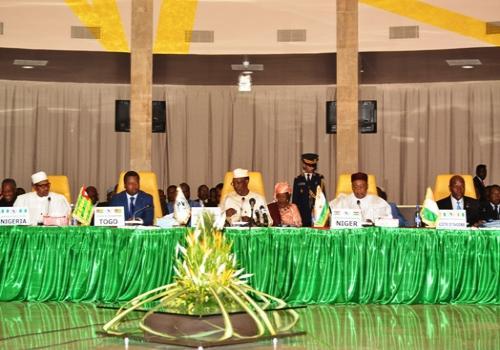 Conférence des chefs d'Etat de la CEN-SAD à N'Djamena, ce samedi 13 avril 2019.