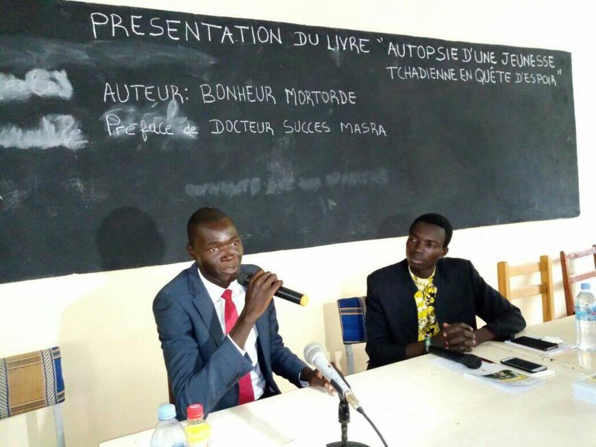 L'auteur tchadien Bonheur Ngon-Gor Mortorde. © DR
