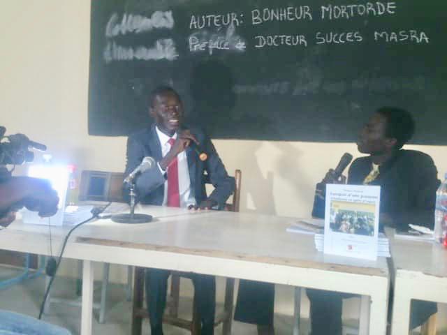 L'auteur tchadien Bonheur Ngon-Gor Mortorde. © Alwihda Info