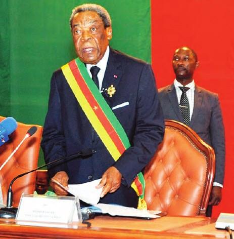 Le président du Sénat du Cameroun, Marcel Niat Njifenji.